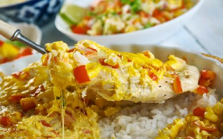 Kapitalna zapiekanka z piersi kurczaka i ryżu