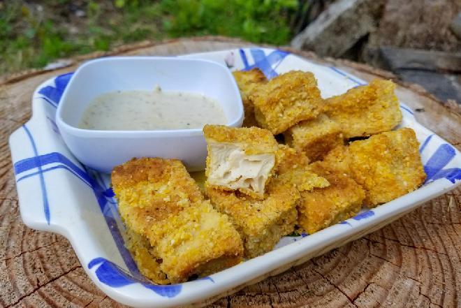 Przepis na panierowane tofu - świetną przekąskę z sera sojowego